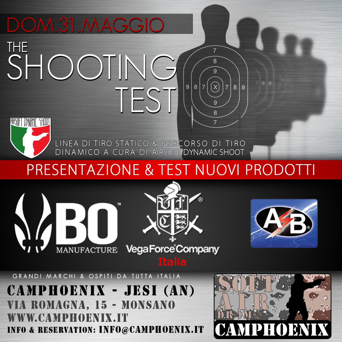 evento the shooting test domenica 31 maggio